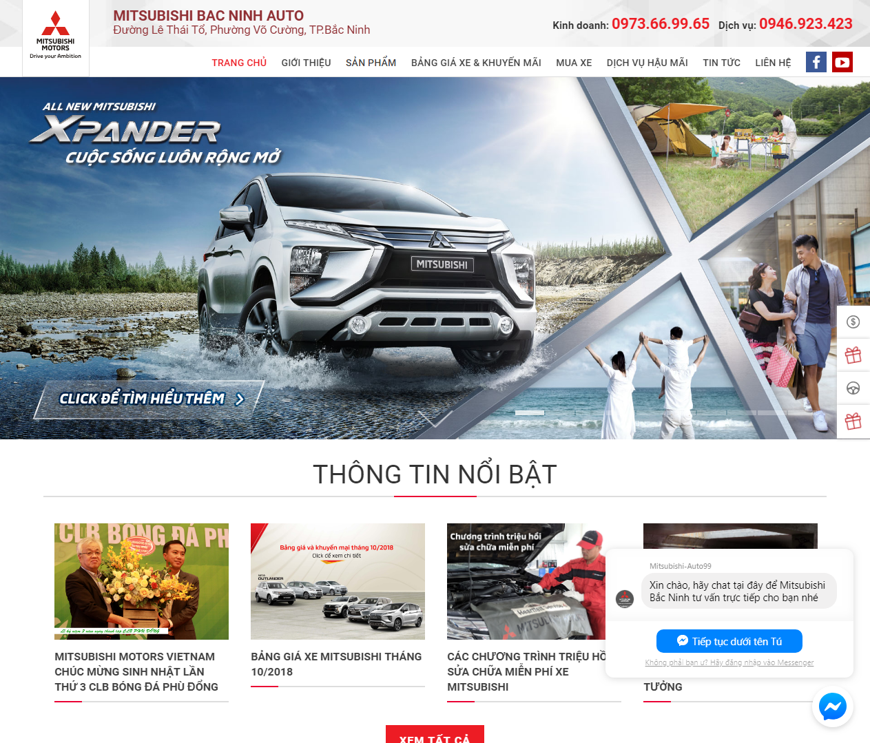 thiet-ke-website-showroom-sua-chua-o-to-xe-may